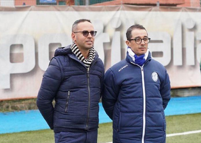 Il presidente Michele Criscitiello, qui con il tecnico Emilio Longo (fonte Facebook Folgore Caratese)