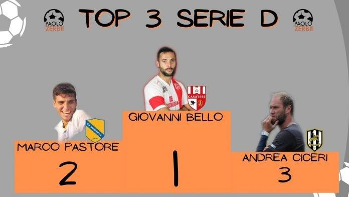 Giovanni Bello, Marco Pastore e Andrea Ciceri sul podio della Serie D