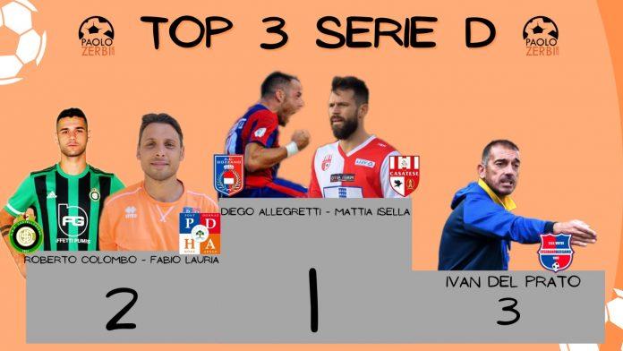 Il podio di Serie D del 24 febbraio