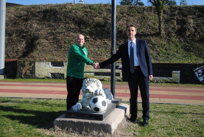 Giovanni Zichella, a sinistra, nuovo allenatore del Derthona nel girone A di Serie D