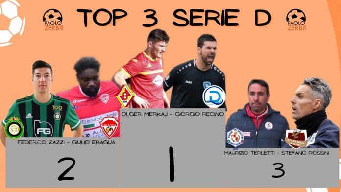 Il podio di giornata in Serie D dopo domenica 28 febbraio