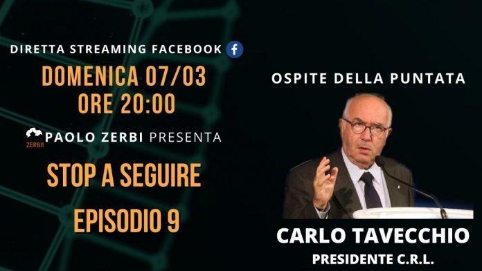 Carlo Tavecchio ospite di Stop a Seguire domenica 7 marzo