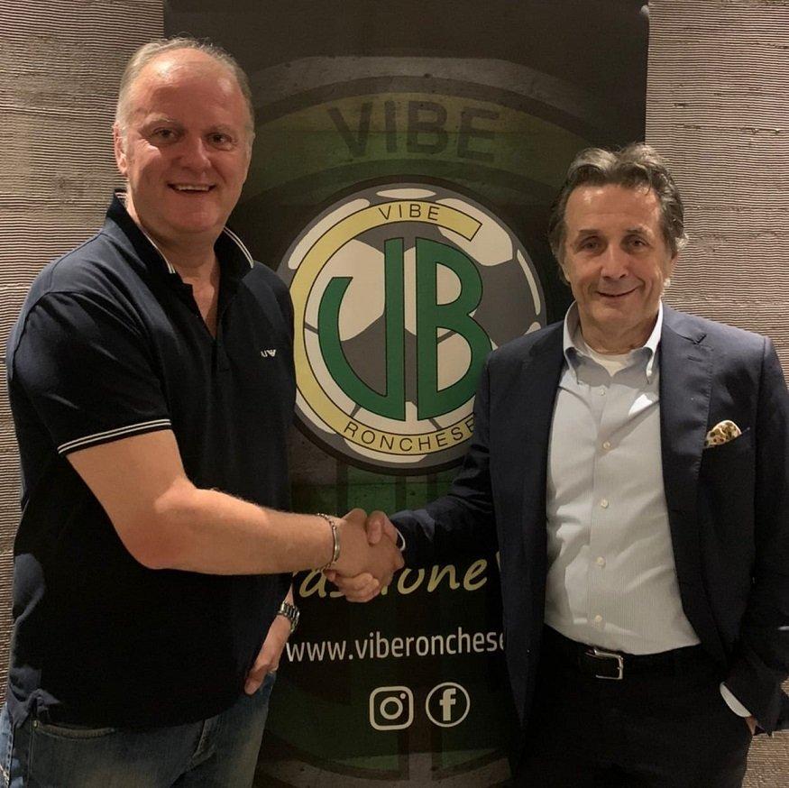 Danilo Battistini con il presidente della Vibe Ronchese