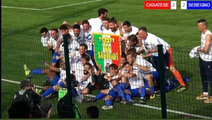 Il Seregno festeggia la vittoria del campionato e la promozione in Serie C